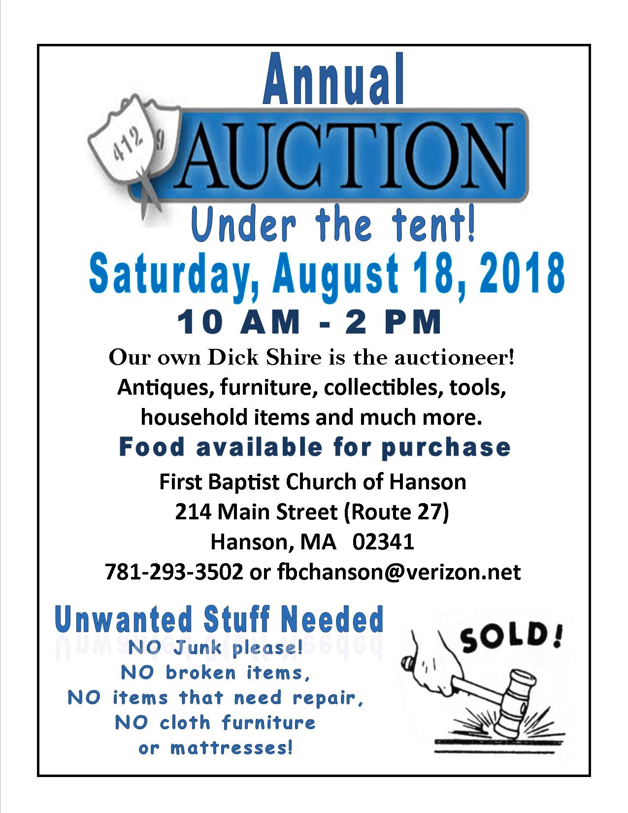 2018 Annual Auction